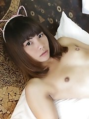 Thai ladyboy with small tits fucks and sucks white tourist cock