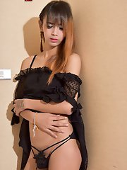 Bly is a very pretty tgirl with a sexy slim body, small natural tits, a nice firm bubble butt and a delicious small uncut cock! Enjoy this hot ladyboy