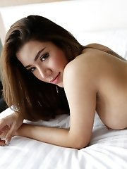 25yo sexy Thai ladyboy blows white guy and masturbates
